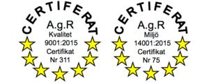 Bemannica är certifierade inom kvalité och miljö