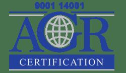bild på logotyp av AGR certification ISO9001 och ISO14001